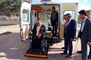 Bu Ambulans Artık Engelli Nakil Aracı Olarak Hizmet Verecek...